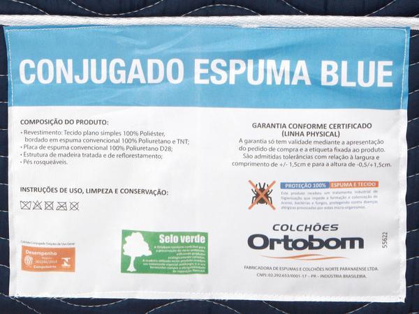 Imagem de Cama Box Casal Ortobom Conjugado 43cm de Altura - Physical Blue
