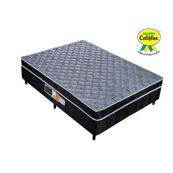 Imagem de Cama Box Conjugada Casal com Molas Prolastic 138x188x52 Poliéster - Celiflex