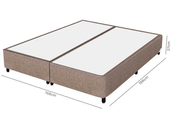 Imagem de Cama Box Queen (Box + Colchão) Plumatex - Mola 65cm de Altura Ópus