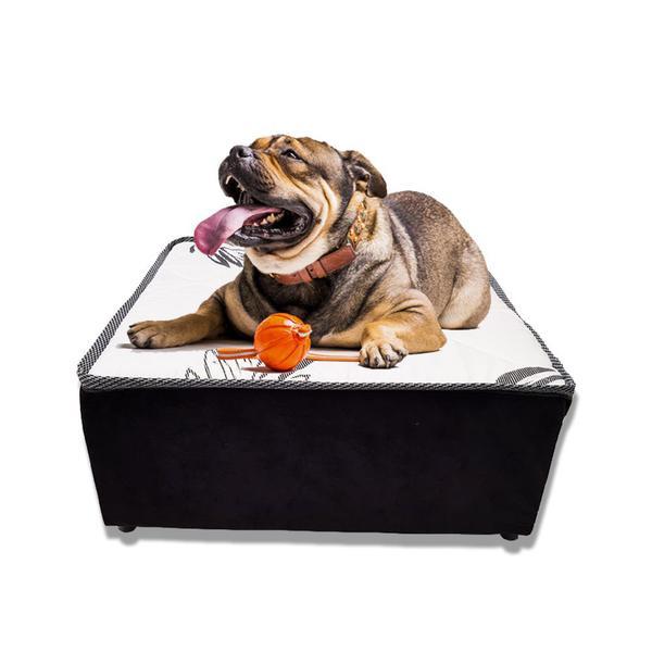 Imagem de Caminha Pet Box Para Cachorros E Gatos - Médio Branco - eShop Casa