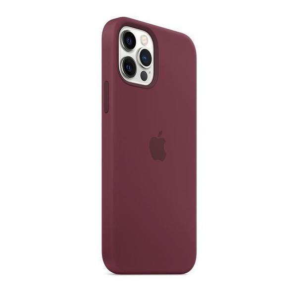 Imagem de Capa com MagSafe para iPhone 12 / 12 Pro Apple, Silicone Ameixa
