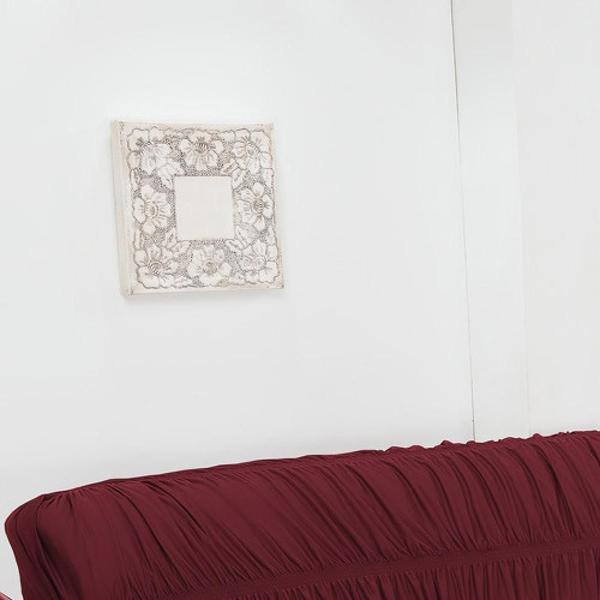 Imagem de Capa de Sofá 3 Lugares Elásticada Vinho