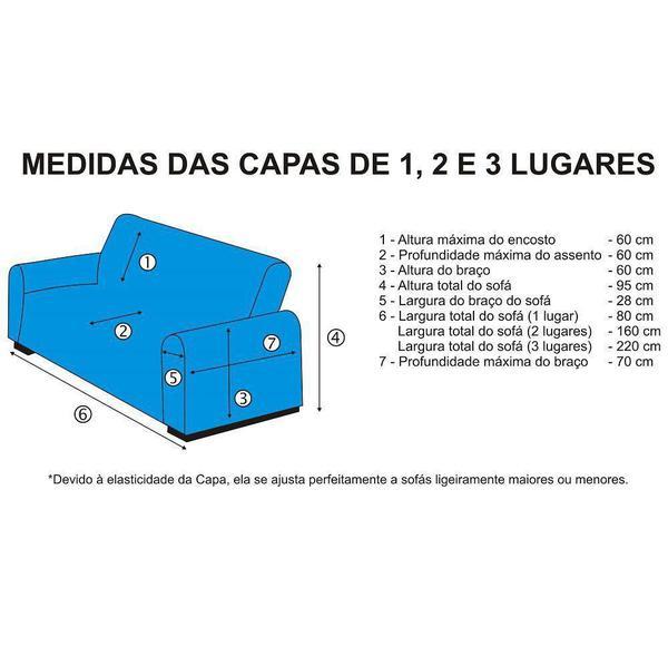 Imagem de Capa de Sofá Avulsa 3 Lugares em Malha Dupla - Vermelho