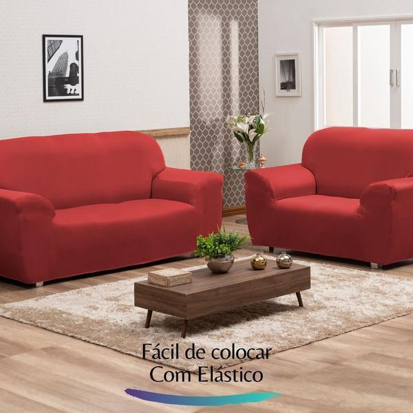 Imagem de Capa de Sofá Elastex - Vermelho