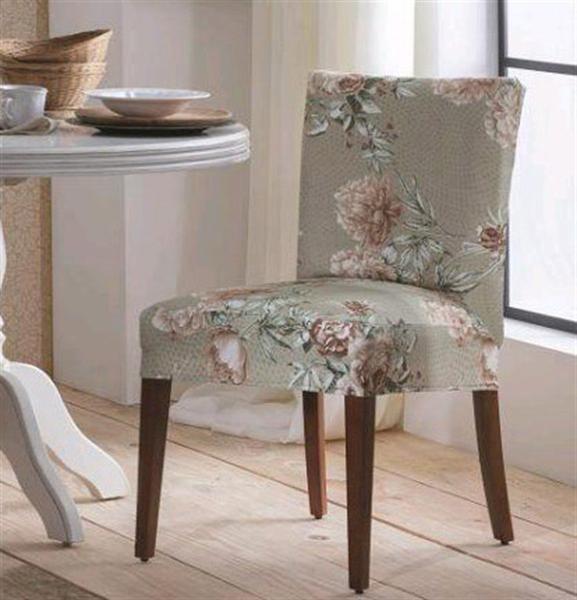 Imagem de Capa para cadeira de malha estampada dália - adomes