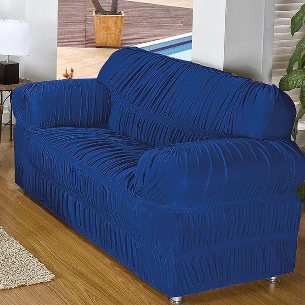 Imagem de Capa Para Sofá Brastuk Azul 2 Peças