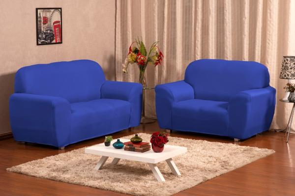 Imagem de Capa Para Sofá Lisa 2 E 3 Lugares Coladinha Malha Gel
