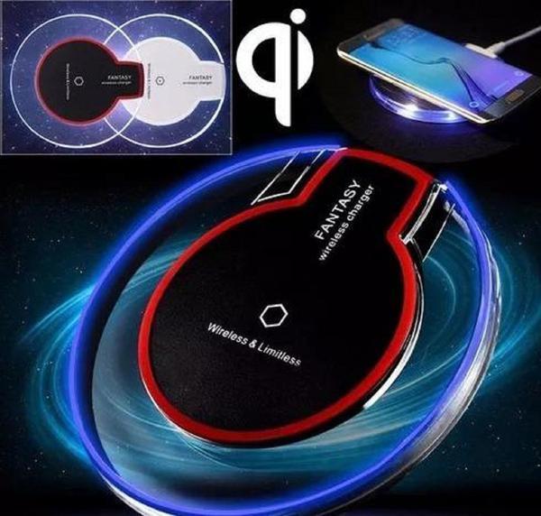 Imagem de Carregador Indução S/fio Samsung S6 S7 S8 S9 iPhone 8 X Novo