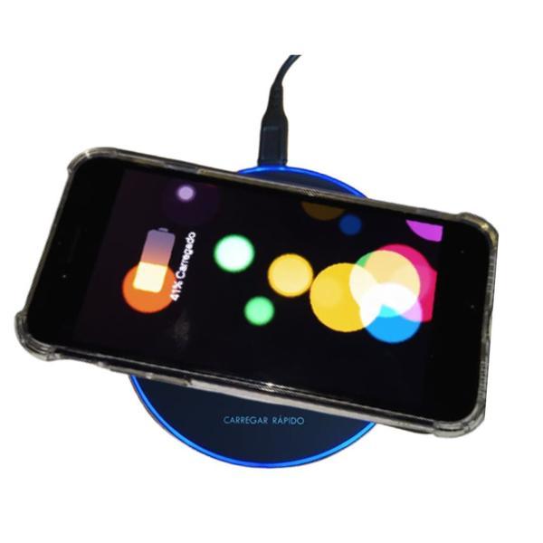 Imagem de Carregador Rápido Sensor Qi Wireless iPhone Samsung Xiaomi