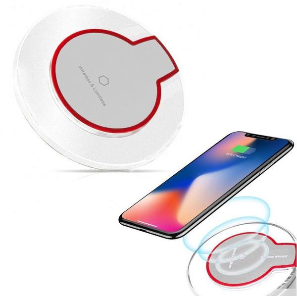 Imagem de Carregador Sem Fio Indução Qi Para Smartphone Universal BRANCO