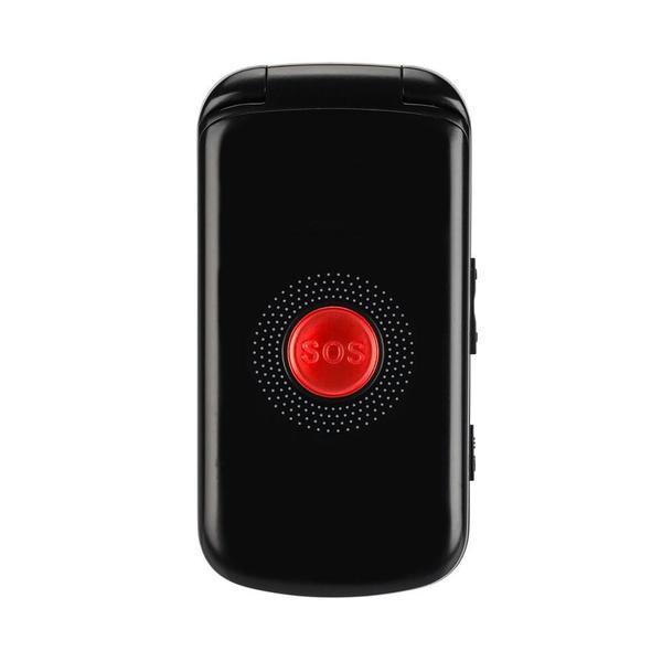 Imagem de Celular Flip Para Idoso DL Botao SOS Dual Chip Camera VGA e Radio FM YC-130 Preto