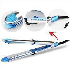 Imagem de Chapinha Piastra Nanotitanium Alisa Cacheia Profissional 1 1/4 Bibolt Azul
