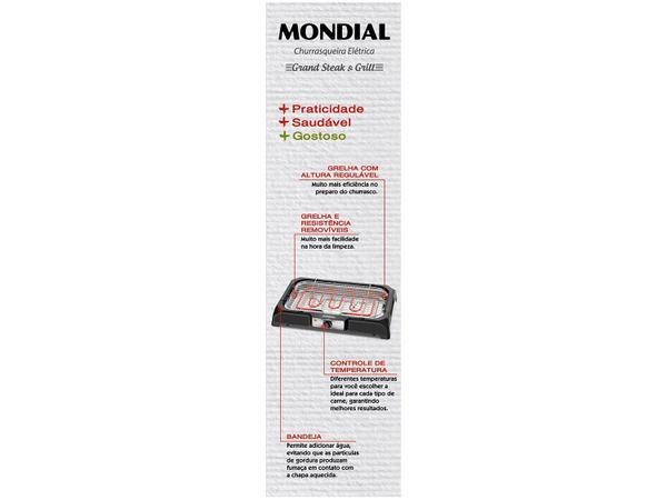 Imagem de Churrasqueira Elétrica Mondial 2000W - Grand Steak & Grill