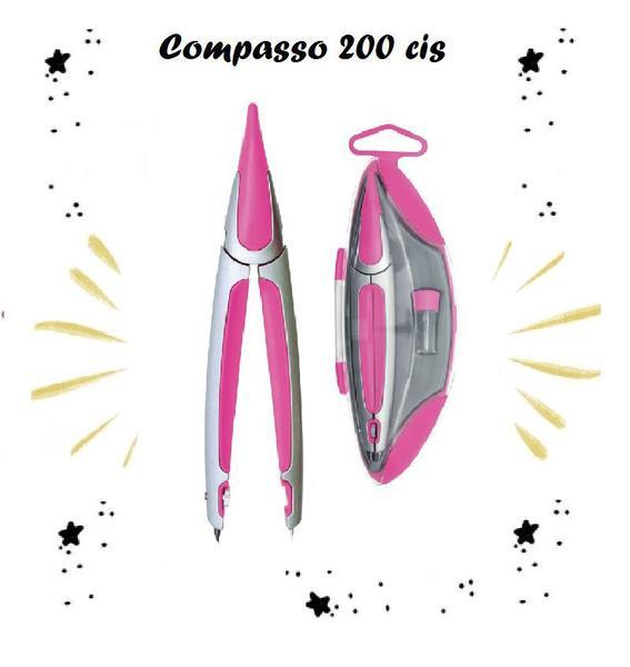 Imagem de Compasso Escolar Cis 200 - Rosa