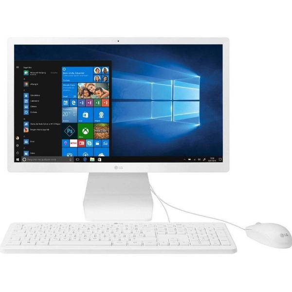 """Imagem de Computador All in One LG 21.5"""" FULL HD Windows 10 Home Celeron 4GB RAM e 500GB HD"""