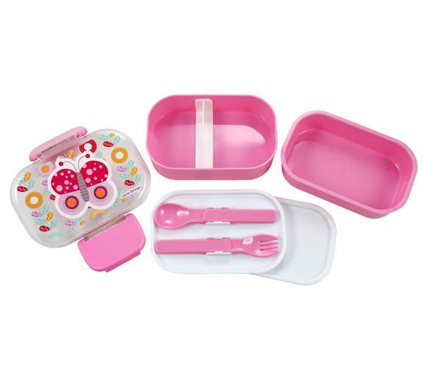 Imagem de Conjunto Pote para Lanche e Squeeze Infantil Pequeninos Menina Jacki Design