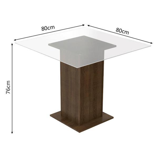 Imagem de Conjunto Sala de Jantar Madesa Aline Mesa Tampo de Vidro com 4 Cadeiras