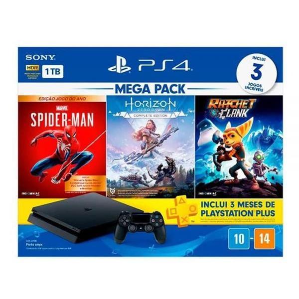 Imagem de Console Playstation 4 Mega Pack 15 1TB com Jogos - Sony