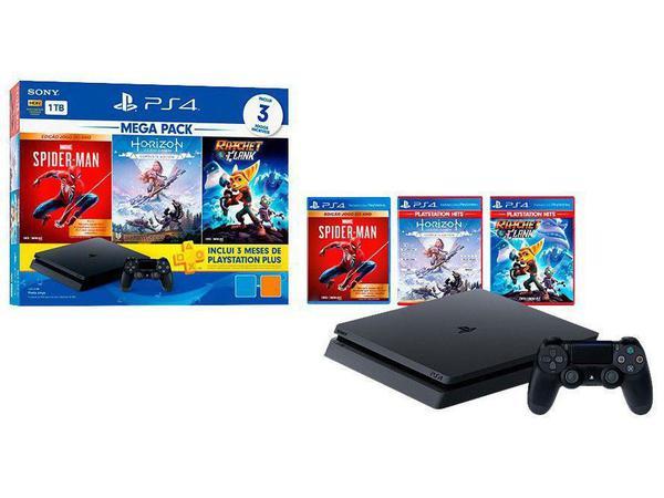 Imagem de Console PlayStation 4 Mega Pack Hits V15 1TB Com 3 Jogos - Sony