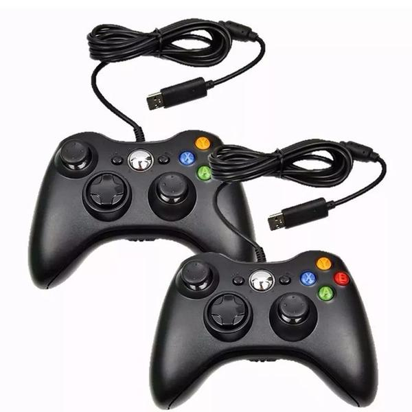Imagem de Controle Com Fio USB Para Xbox 360 e Computadores - PRETO