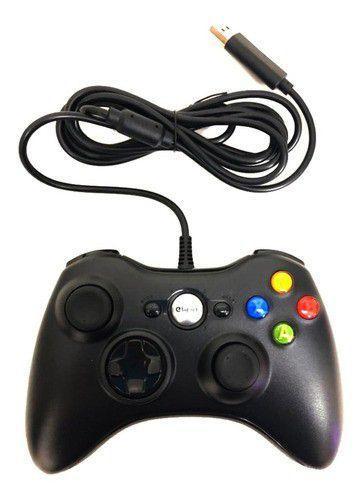 Imagem de Controle compatível com Xbox 360 Com Fio Manete Joystick Pc Usb Com Nfe