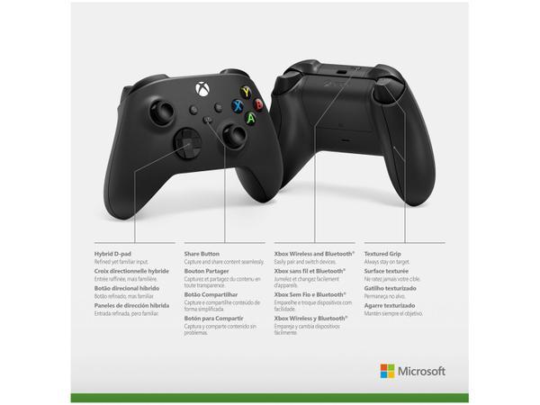 Imagem de Controle para Xbox Series X Xbox Series S - Xbox One X sem Fio Carbon Black Preto