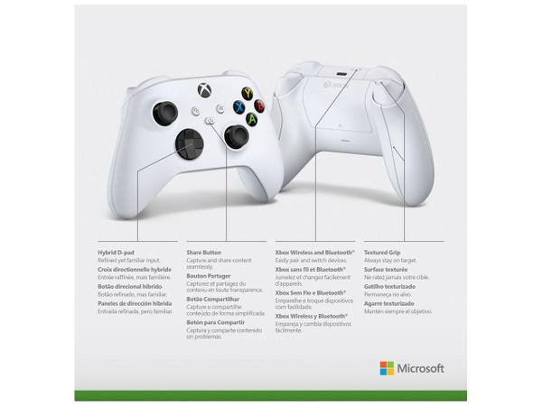 Imagem de Controle para Xbox Series X Xbox Series S - Xbox One X sem Fio Robot White Branco