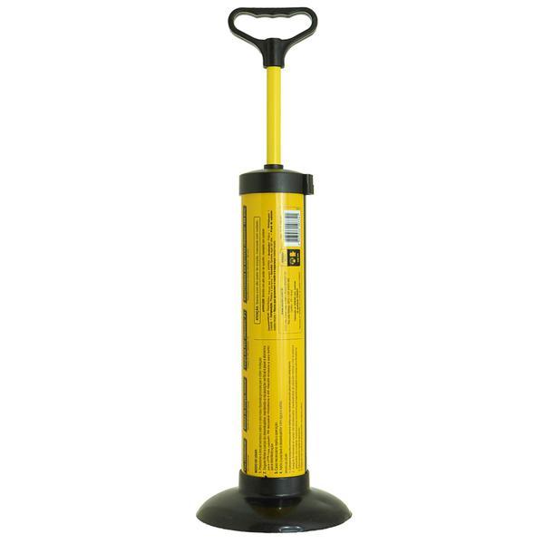 Imagem de Desentupidor manual redondo Multiuso para vasos sanitários, pias, tubulações do tipo bomba de sucção 180mm Vonder potente