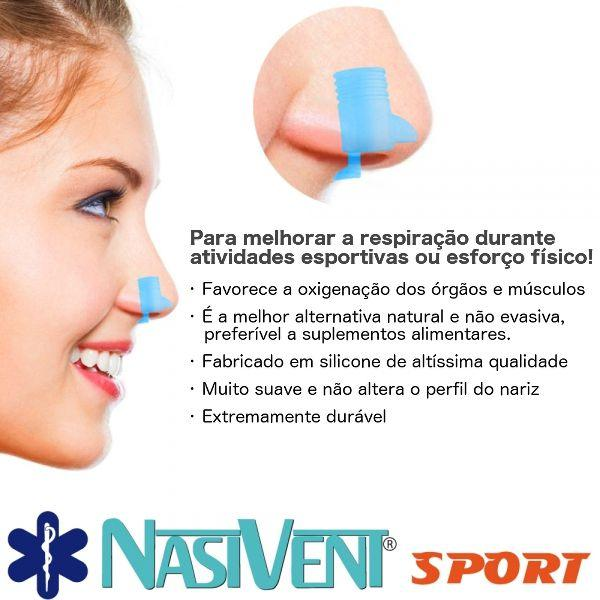 Imagem de Dilatador Nasal Nasivent Sport (azul) - Mais Energia