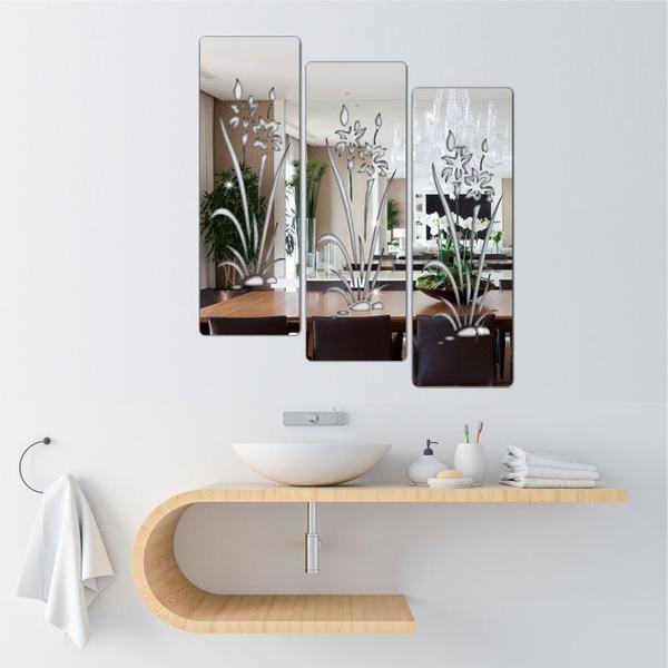 Imagem de Espelho Decorativo Florais Em Acrílico - Flores - Tecnotronics