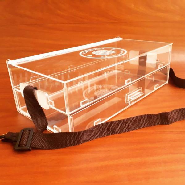 Imagem de Expositor 100 brigadeiros Nº4 com gaveta e tampa, alça regulável