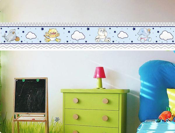 Imagem de Faixa bonder decorativa quarto infantil  jogo 04 peças med.10x100)