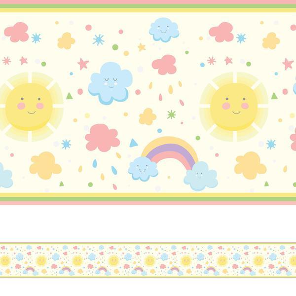 Imagem de Faixa de Parede Infantil Adesiva Arco Iris 10mx10cm