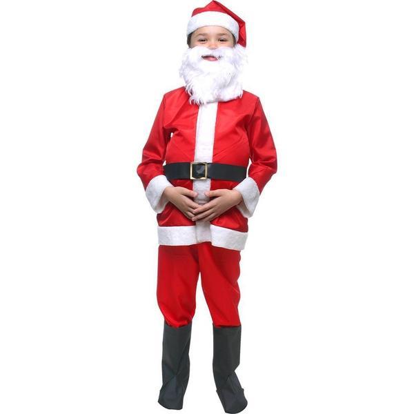 Imagem de Fantasia De Papai Noel LUXO tamanhos de 2 a 12 anos ROUPA INFANTIL