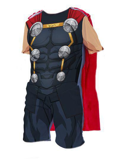 Imagem de Fantasia Thor Manga Curta Capa Vingadores Oficial Infantil