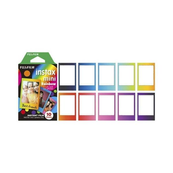 Imagem de Filme Instax Mini Colorido Rainbow Kit C/ 10 Fotos Fujifilm
