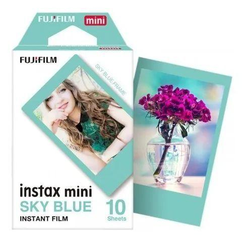 Imagem de Filme Instax Mini Kit CORES 30 poses - 10 Bordas Pretas + 10 Bordas Azul Claro + 10 Bordas Coloridas