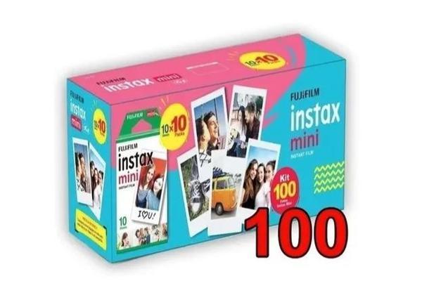 Imagem de Filme Para Instax Mini 11 9 8 7s 90 70 Pack Com 100 Fotos