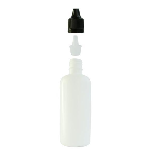 Imagem de Frasco Plástico Branco C/ Conta Gotas 100ml (100 Peças)