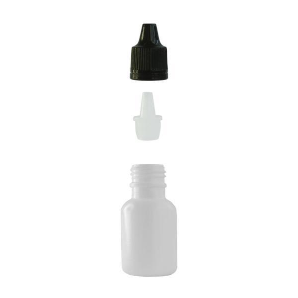 Imagem de Frasco Plástico Branco C/ Conta Gotas 10ml (100 Peças)