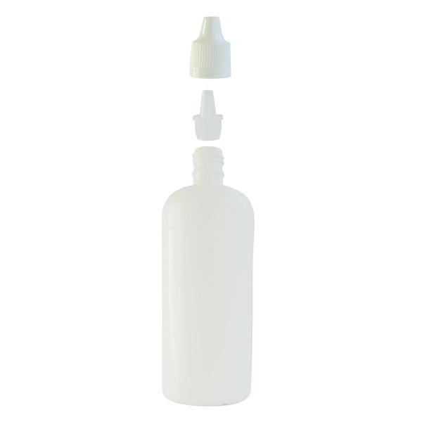 Imagem de Frasco Plástico Branco C/ Conta Gotas 120ml (100 Peças)