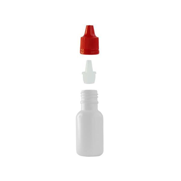 Imagem de Frasco Plástico Branco C/ Conta Gotas 20ml (100 Peças)