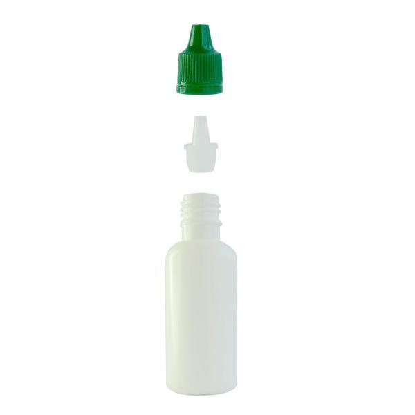 Imagem de Frasco Plástico Branco C/ Conta Gotas 30ml (100 Peças)