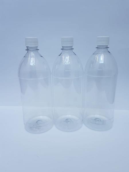 Imagem de Frasco Plástico de 1 Litro com Tampa Kit com 35 unidades