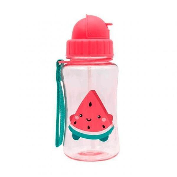 Imagem de Garrafa para Criança e Bebê com Canudo 400ML Melancia