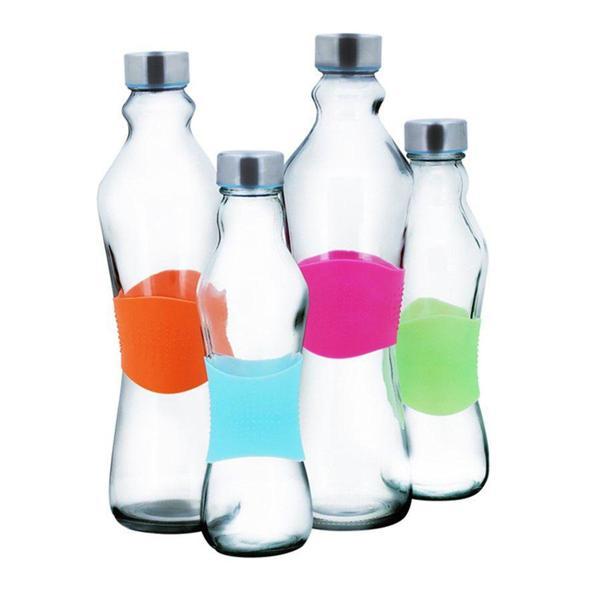 Imagem de Garrafa vidro grip color silicone 1 litro - Lazi