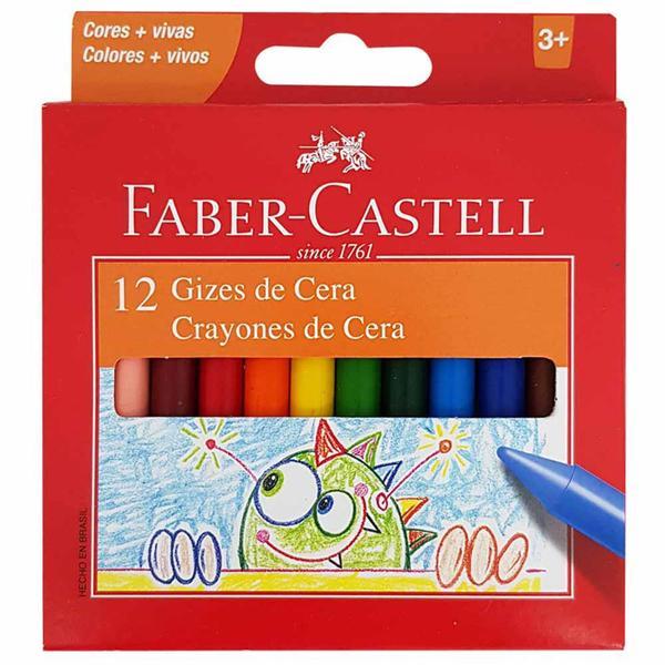 Imagem de Giz de Cera 12 Cores Faber Castell