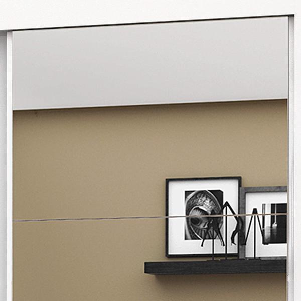 Imagem de Guarda Roupa Solteiro 4 Espelhos 2 Portas de Correr Roma New Espresso Móveis Branco