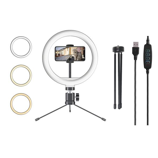 Imagem de Iluminador Ring Light Selfie Anel Led 10 Polegadas Profissional - St Store