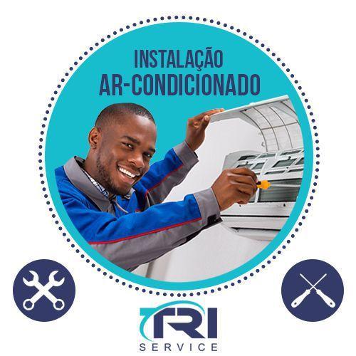 Imagem de Instalação de Ar Condicionado Split Hi Wall de 30000 BTUs Tri Service